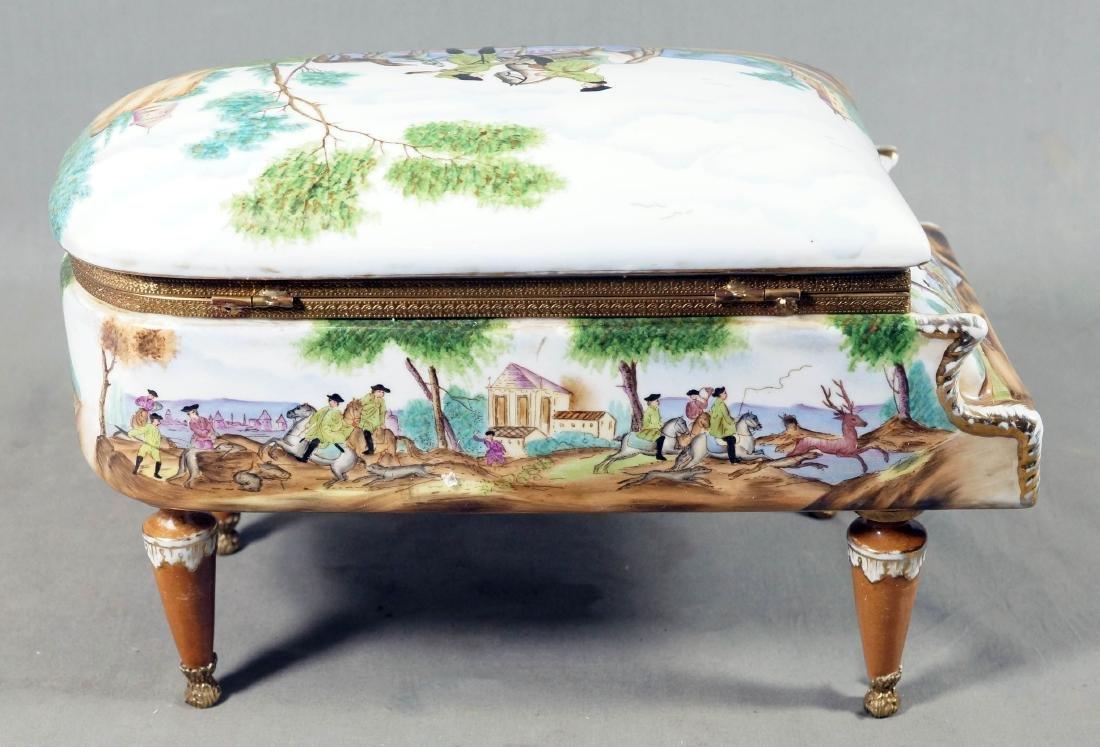 A26) Porcelain Piano Shaped Box - 4