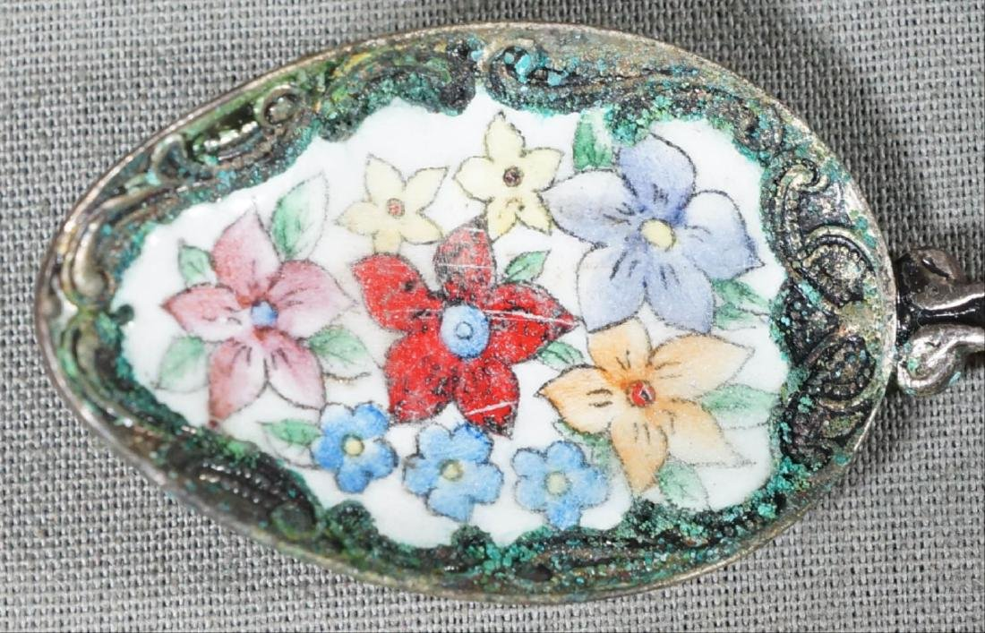 Russian Silver Spoon With Flowers - 3