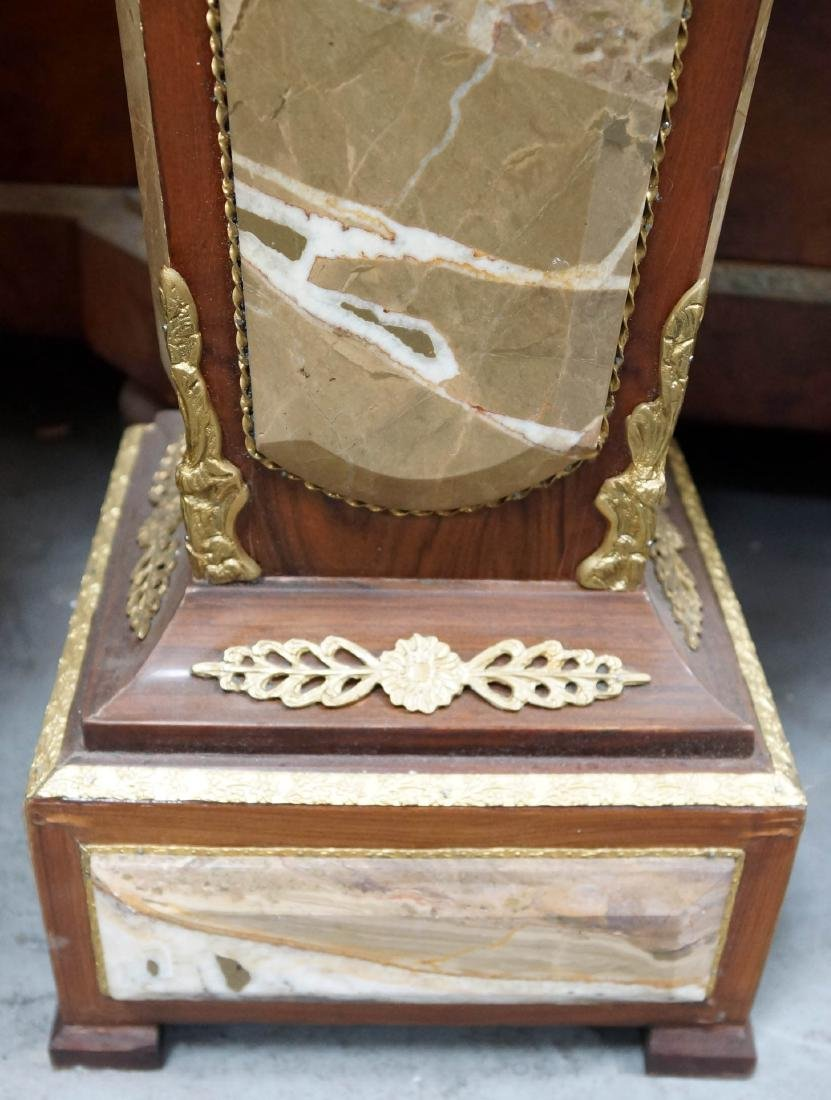 Pair Of Louis Xvi Style Wood And Marble Pedestals W/ - 2