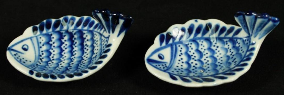 Russian Porcelain Fish Shaped Bowls