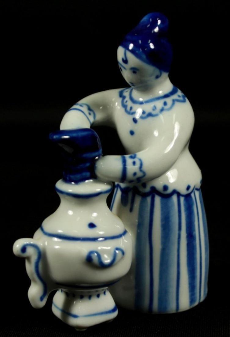 Set Of 3 Russian Porcelain Figures - 2
