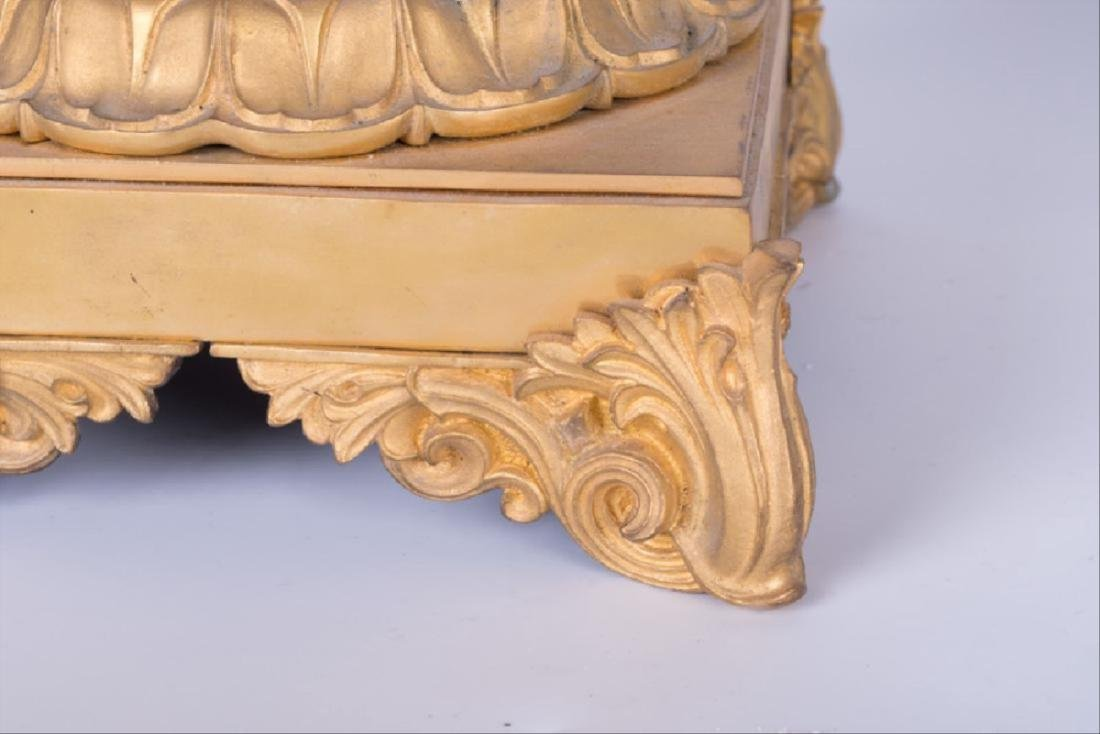 Pair Of 19Th C. Louis Xvi Style Gilt Bronze & Cut Glass - 7