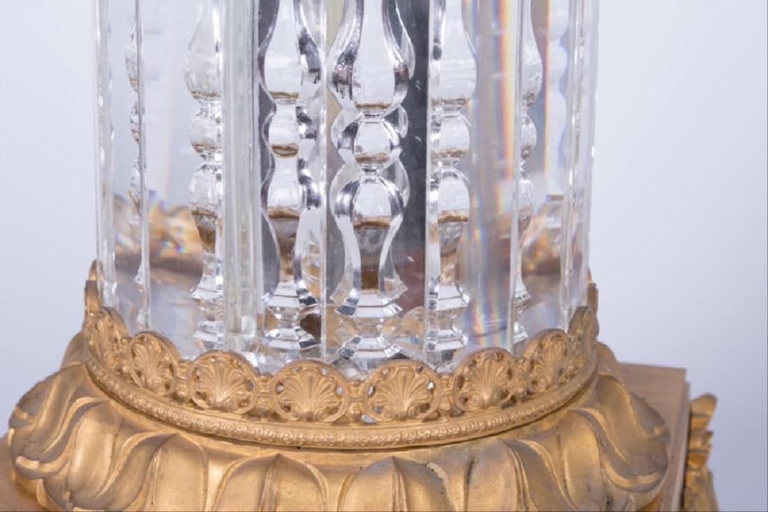 Pair Of 19Th C. Louis Xvi Style Gilt Bronze & Cut Glass - 8
