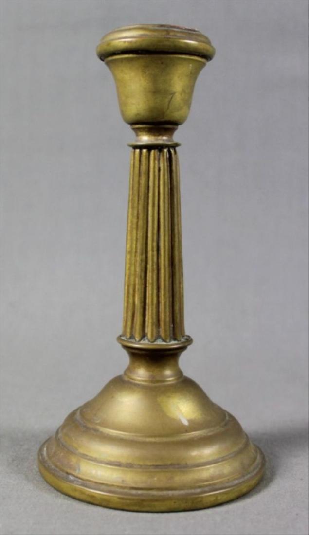 Pair Of Brass Candlesticks - 2