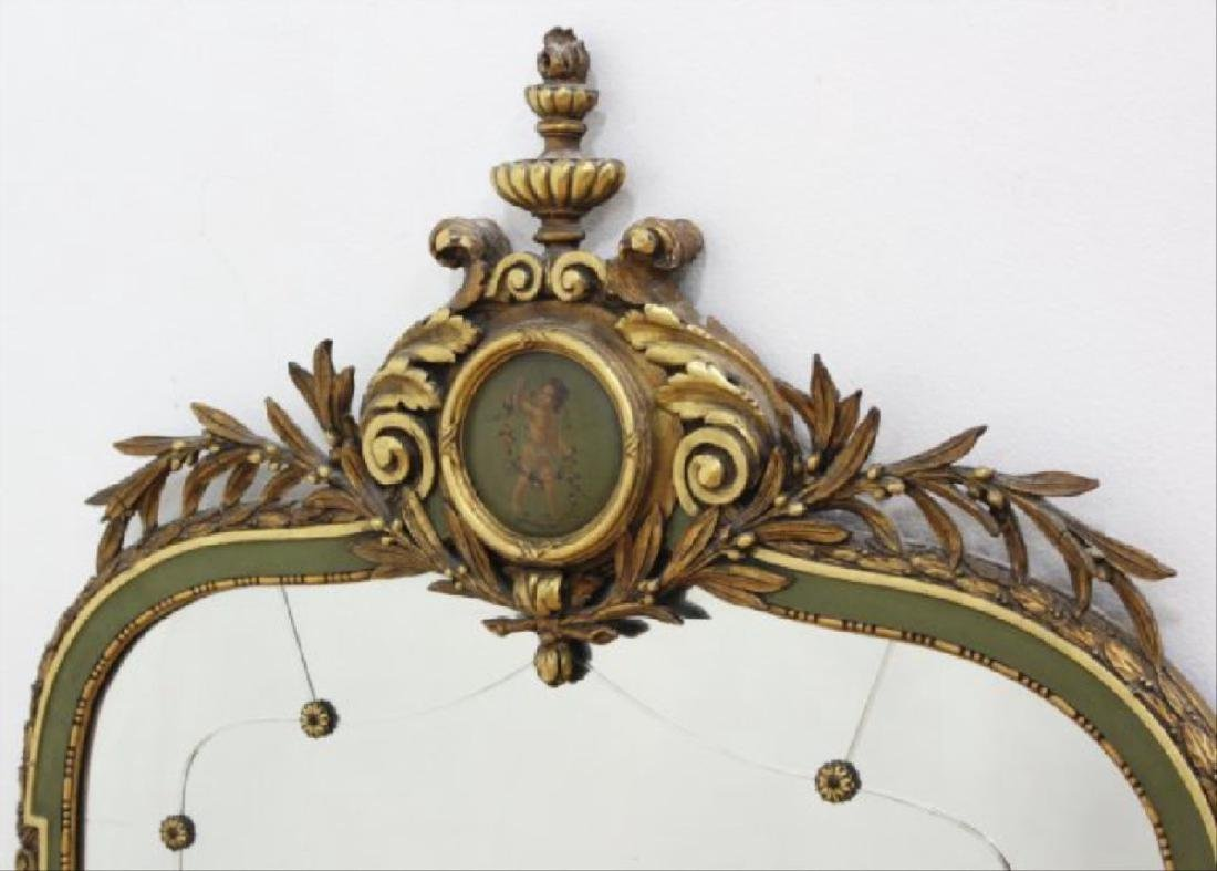 """Late 19th C. Carved Gilded Figural Mirror 55""""H - 2"""