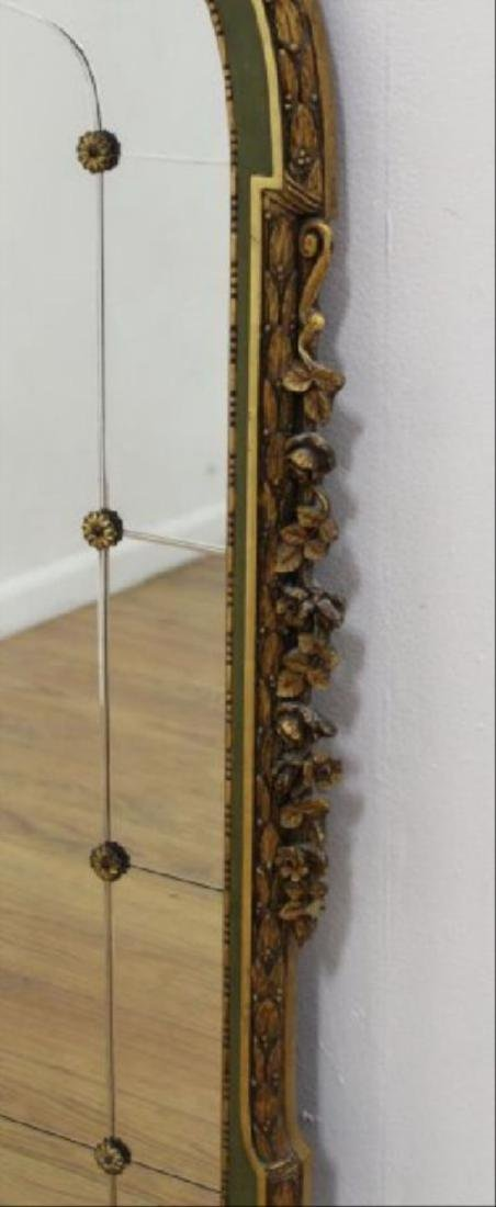 """Late 19th C. Carved Gilded Figural Mirror 55""""H - 4"""