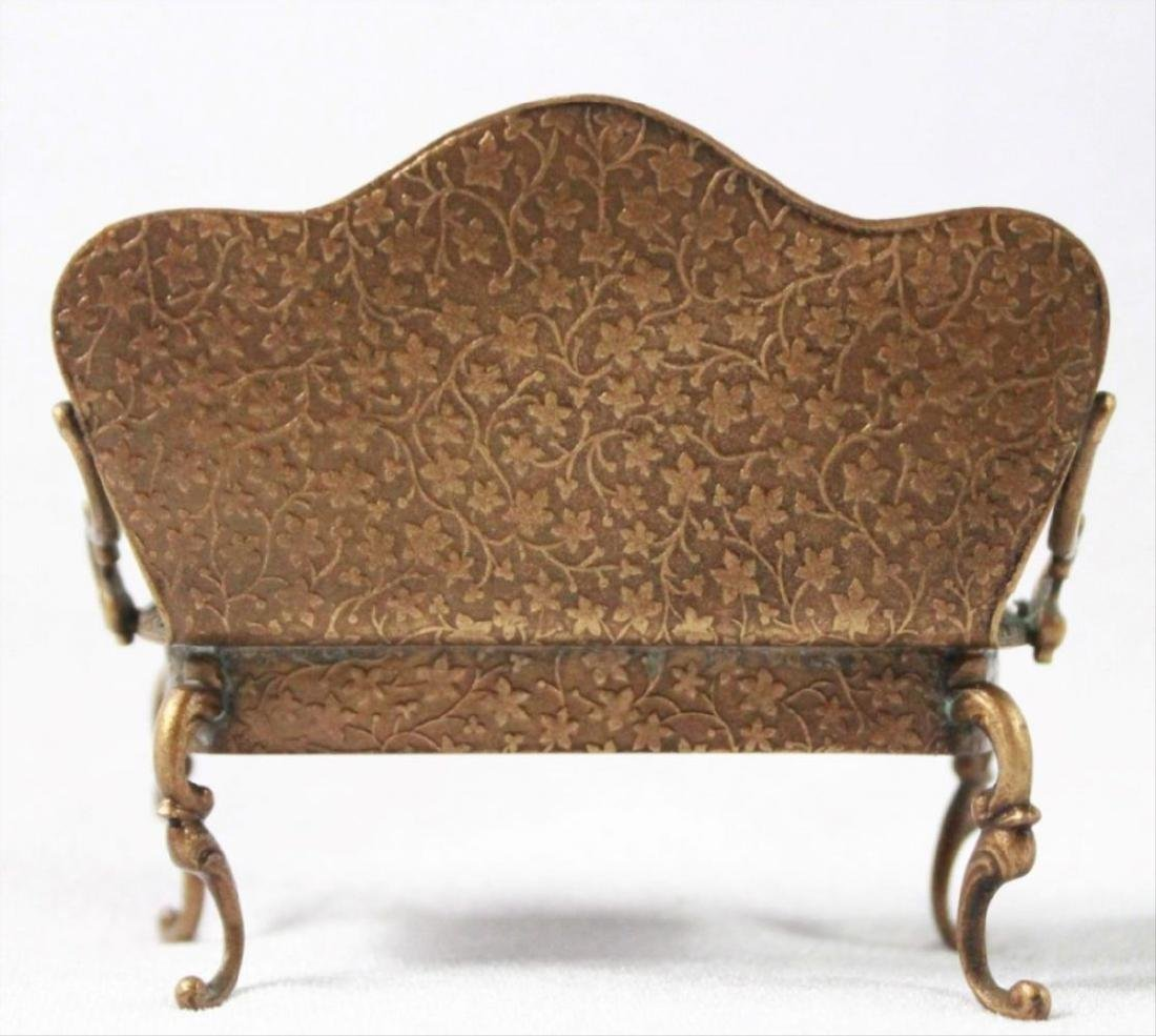 Viennese Enamel Miniature Furniture Set - 10