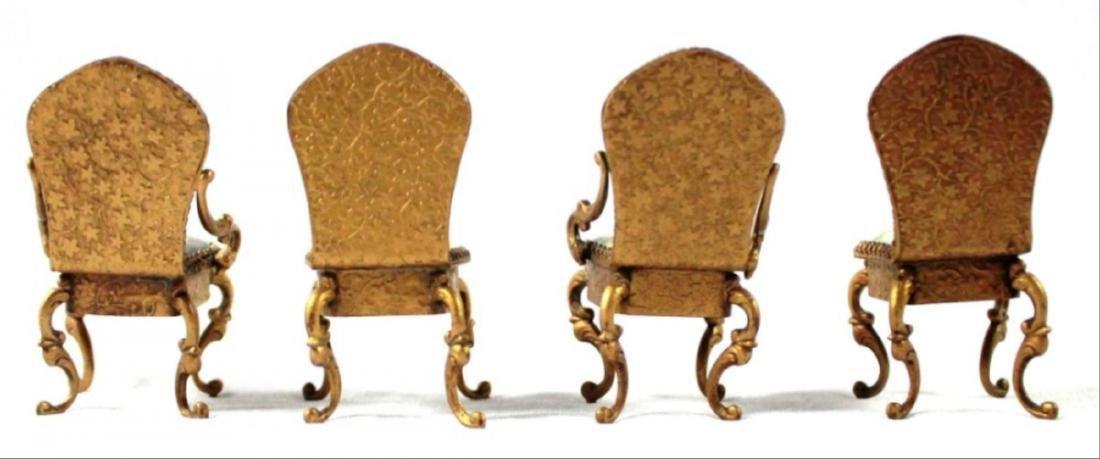 Viennese Enamel Miniature Furniture Set - 5