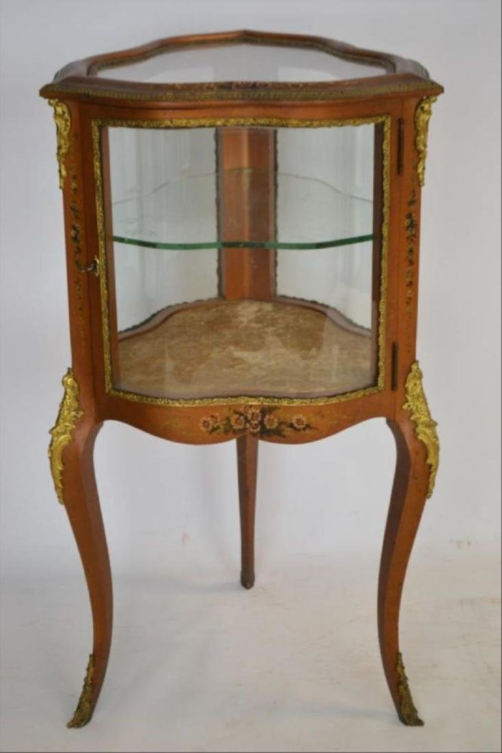 French Provincial Style Curio Display Cabinet