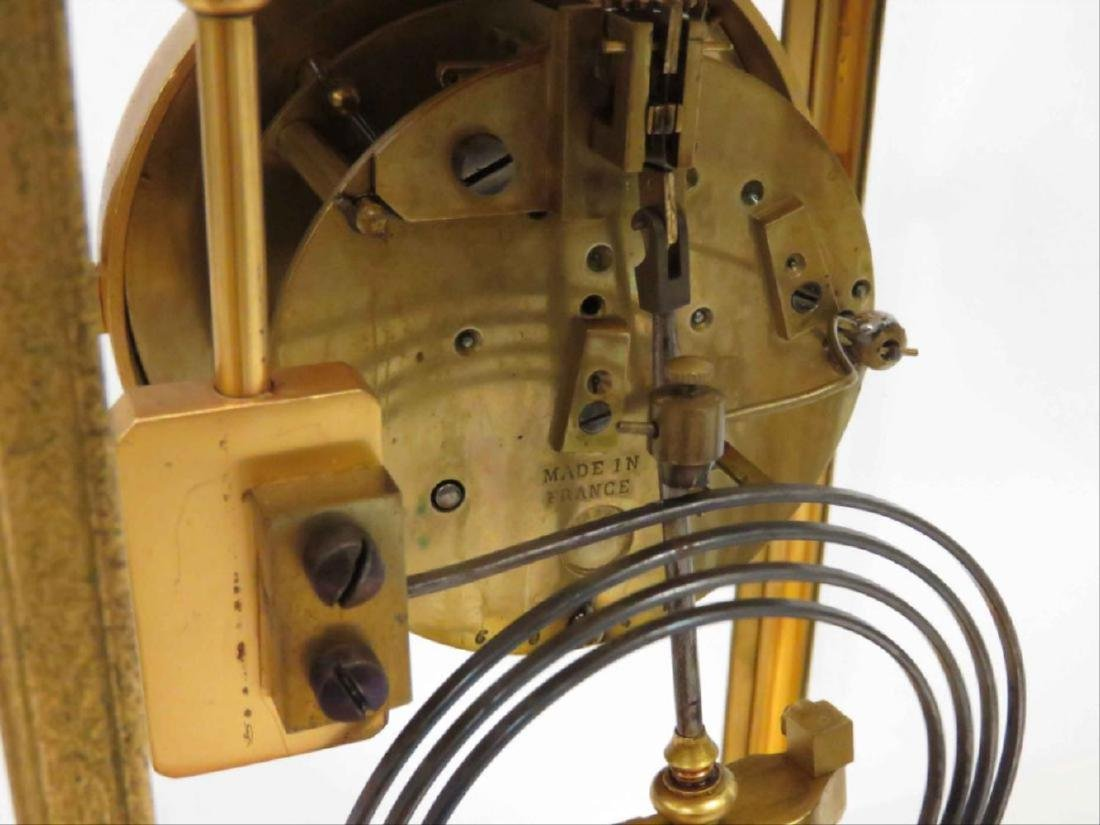 French Marti Gilt Bronze Crystal Regulator Shelf Clock, - 3