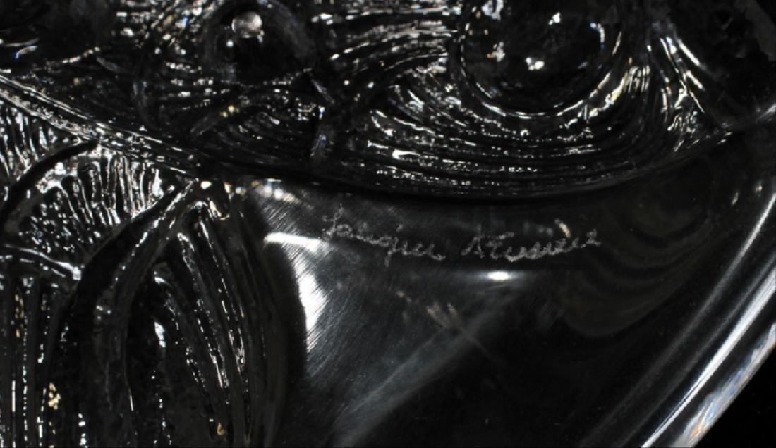 "Lalique Crystal Centerpiece Bowl, Dia 14 1/4"" - 3"