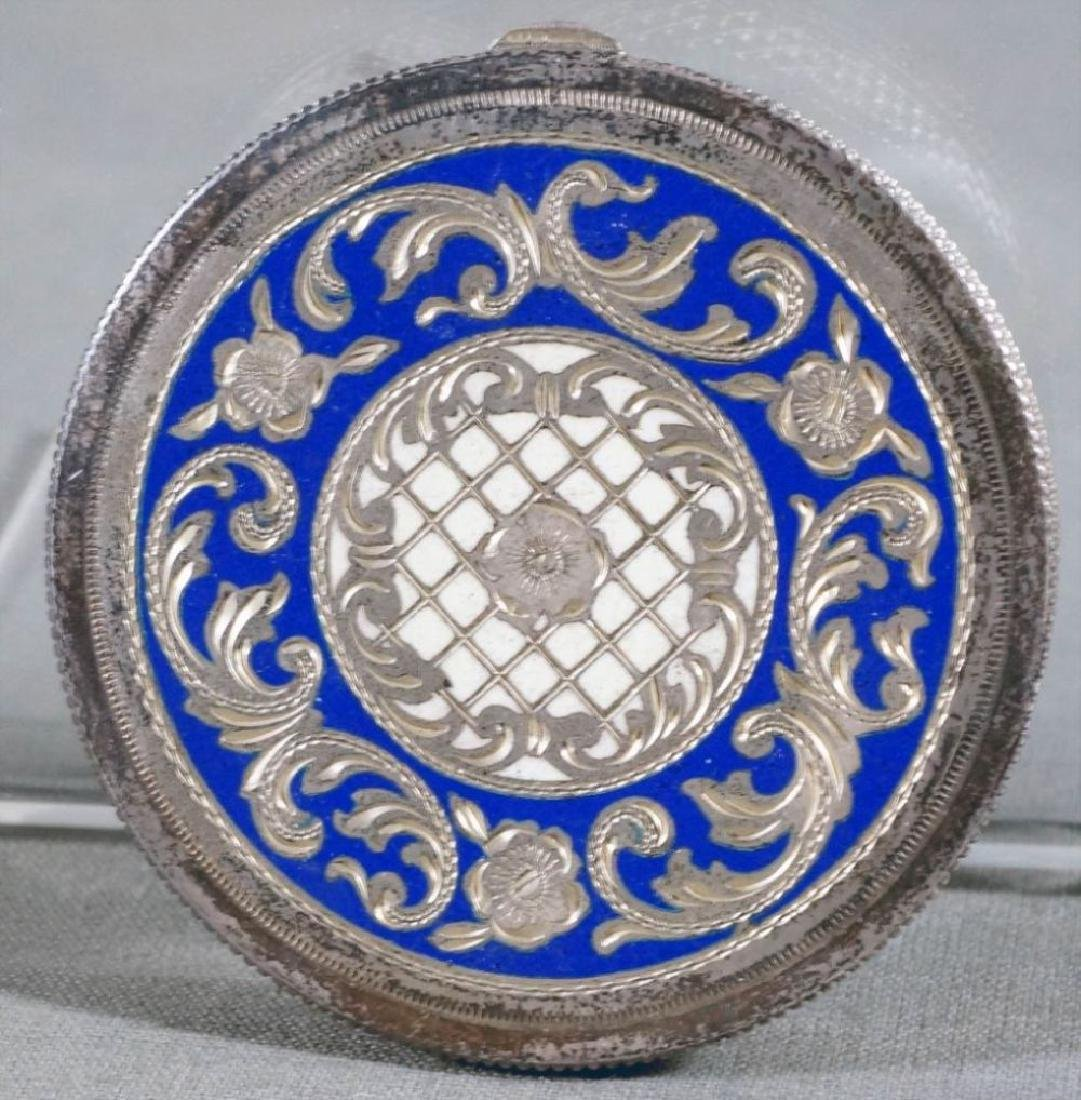 Silver And Enamel Compact - 2