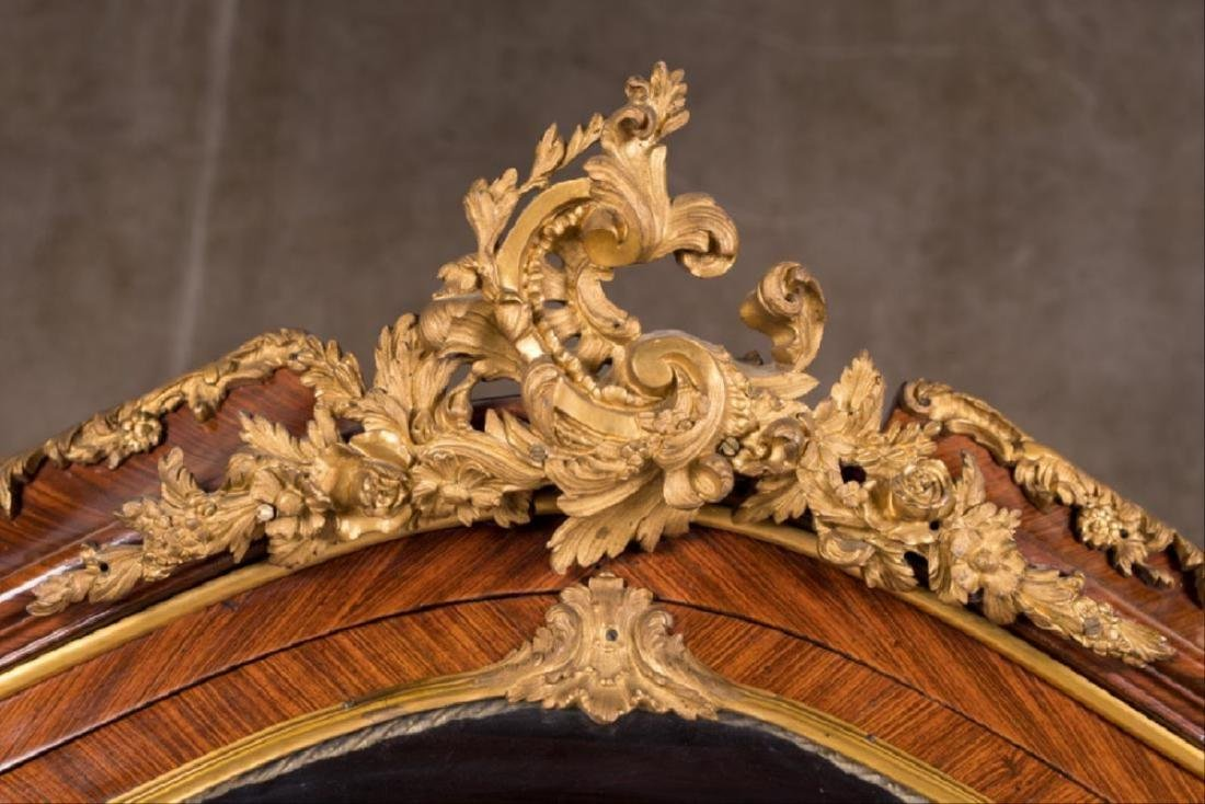 A 19Th Century French Louis Xv Style Ormolu Mounted - 5