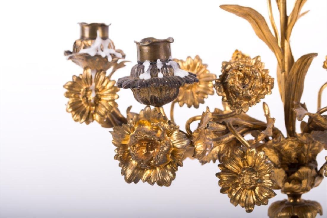 Pair Of Louis Xv Style Gilt Bronze Figural Candelabra - 7