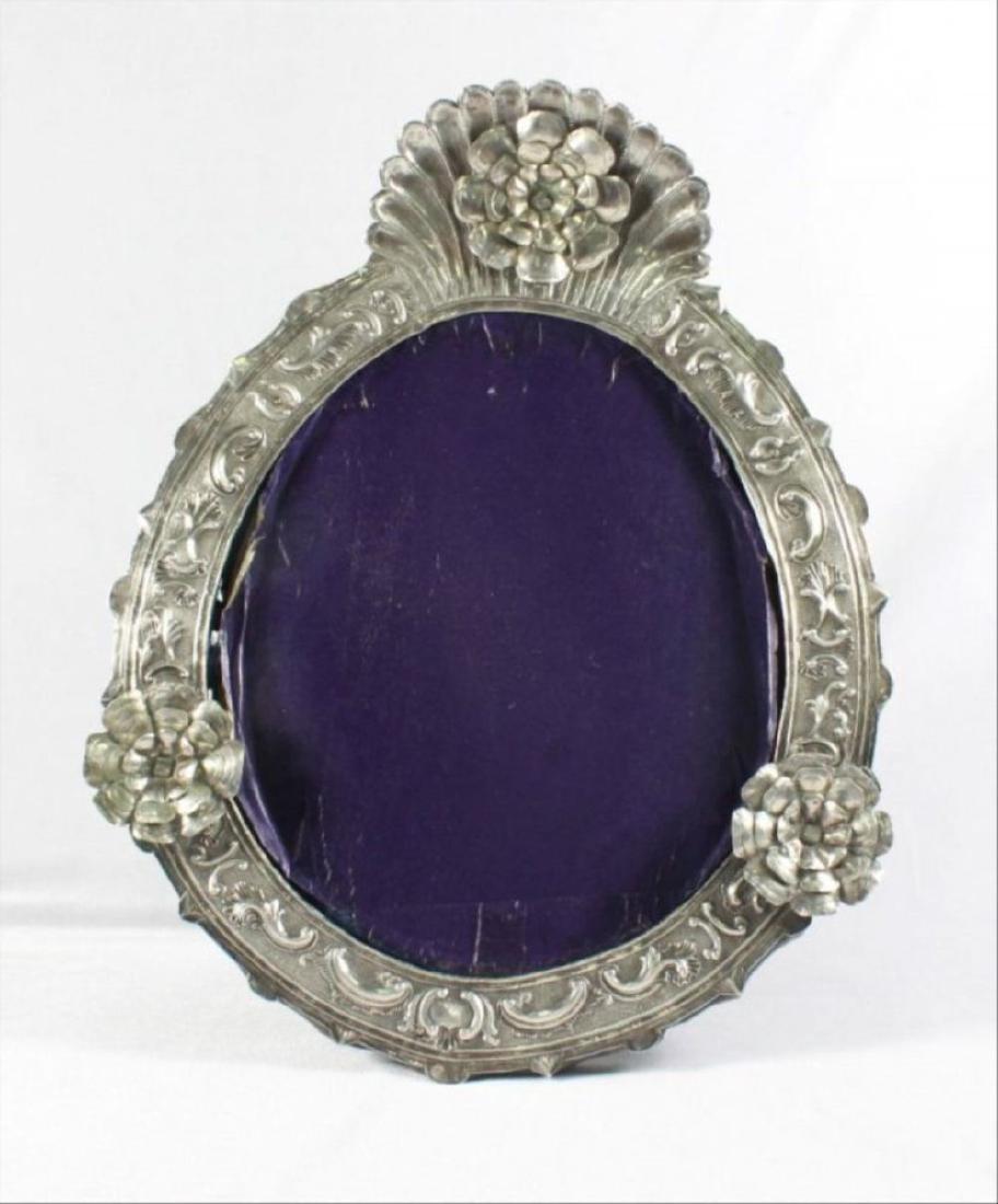 Vintage Pressed Silver Picture Frame