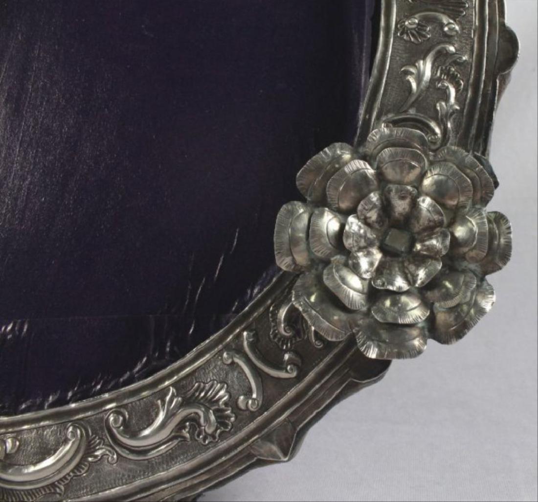 Vintage Pressed Silver Picture Frame - 3