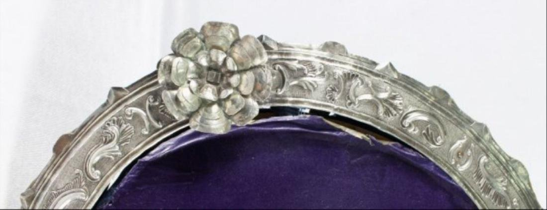 Vintage Pressed Silver Picture Frame - 4