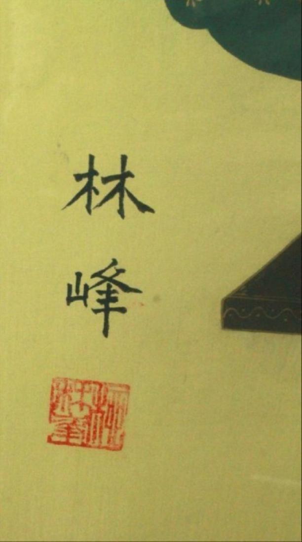 Framed Chinese Ancestor Print - 5