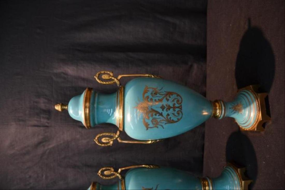 Pair Of Sevres Style Covered Urns - 6