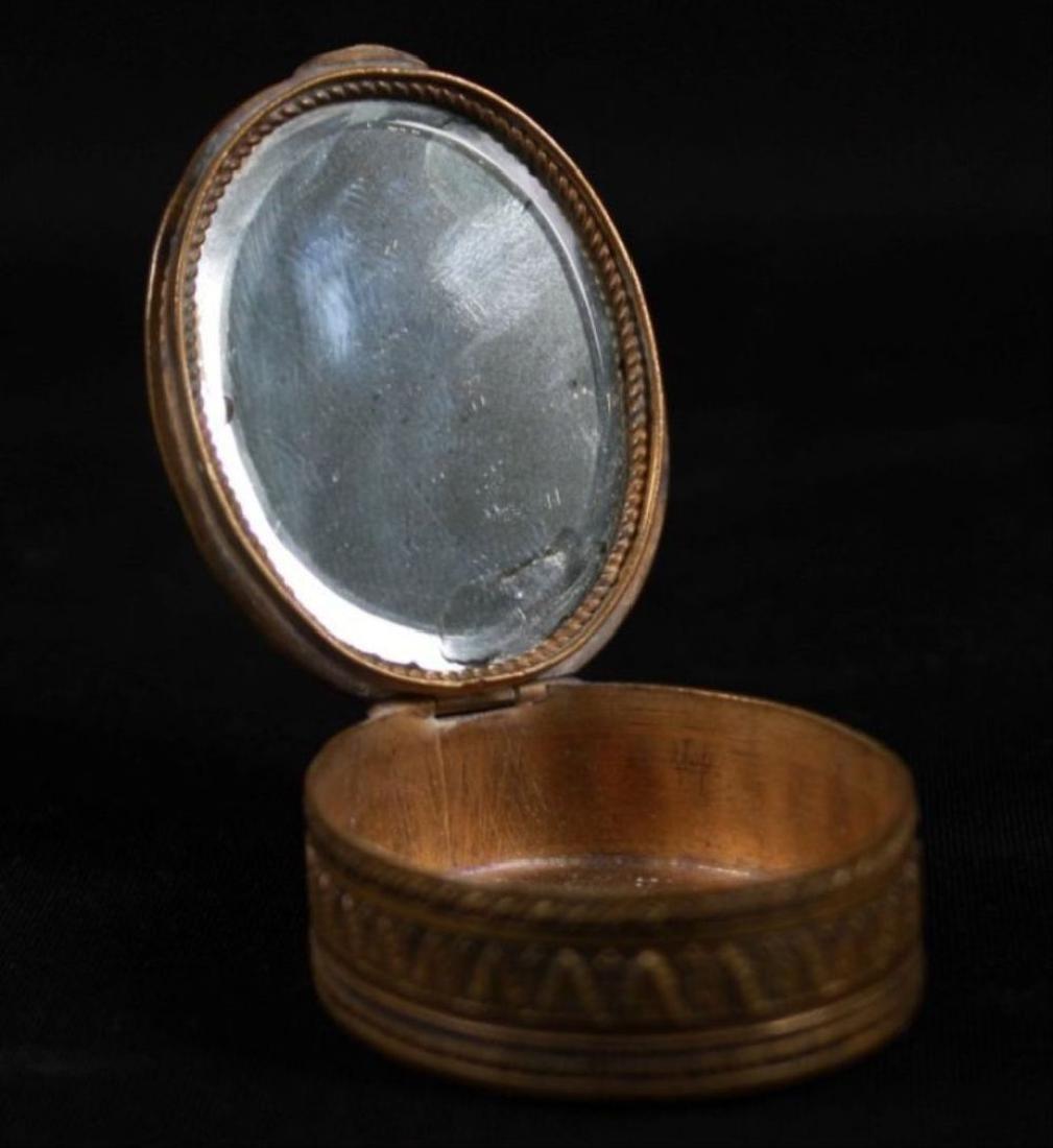 Enamel And Bronze Powder Box - 2