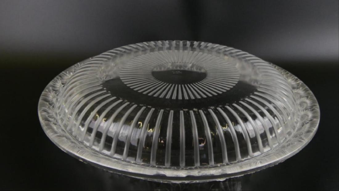 """Lalique Crystal """"Marguerite"""" Wide Centerpiece Bowl - 5"""