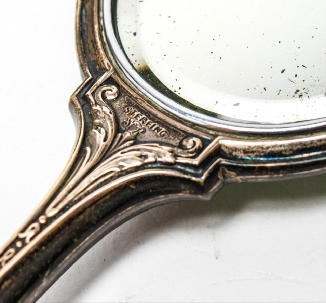 Saart Brothers Silver & Enamel Mirror & Brush Set - 4