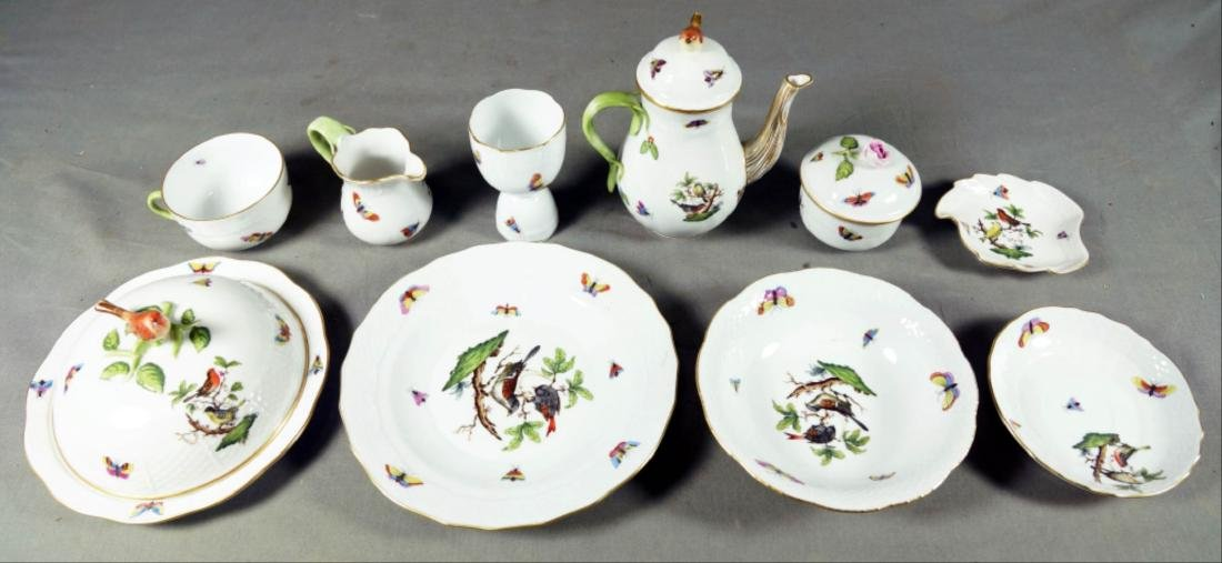 Small Set Of Herend Porcelain Dishes