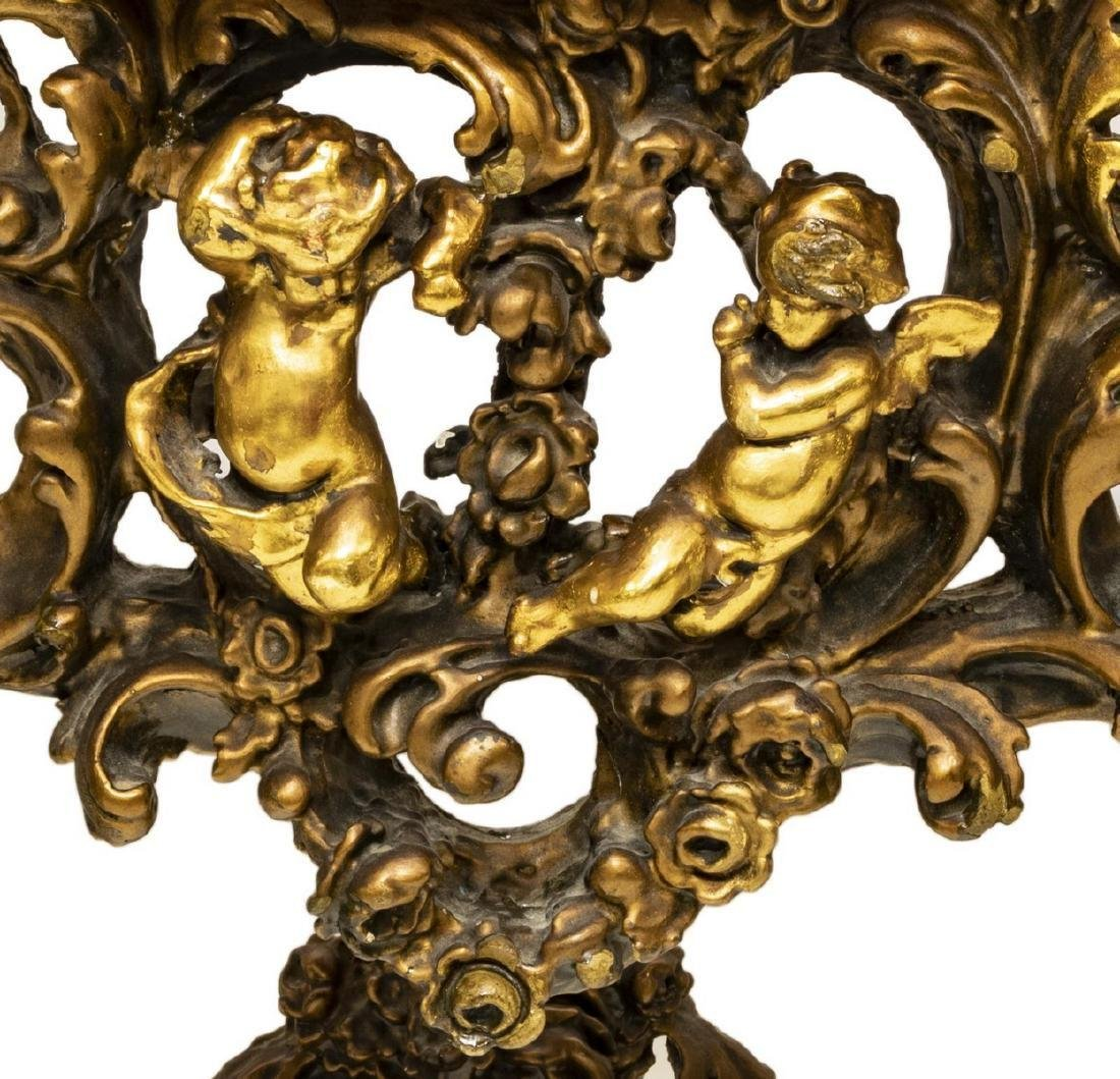 ITALIAN INTRICATELY CARVED GILTWOOD CONSOLE TABLE - 6