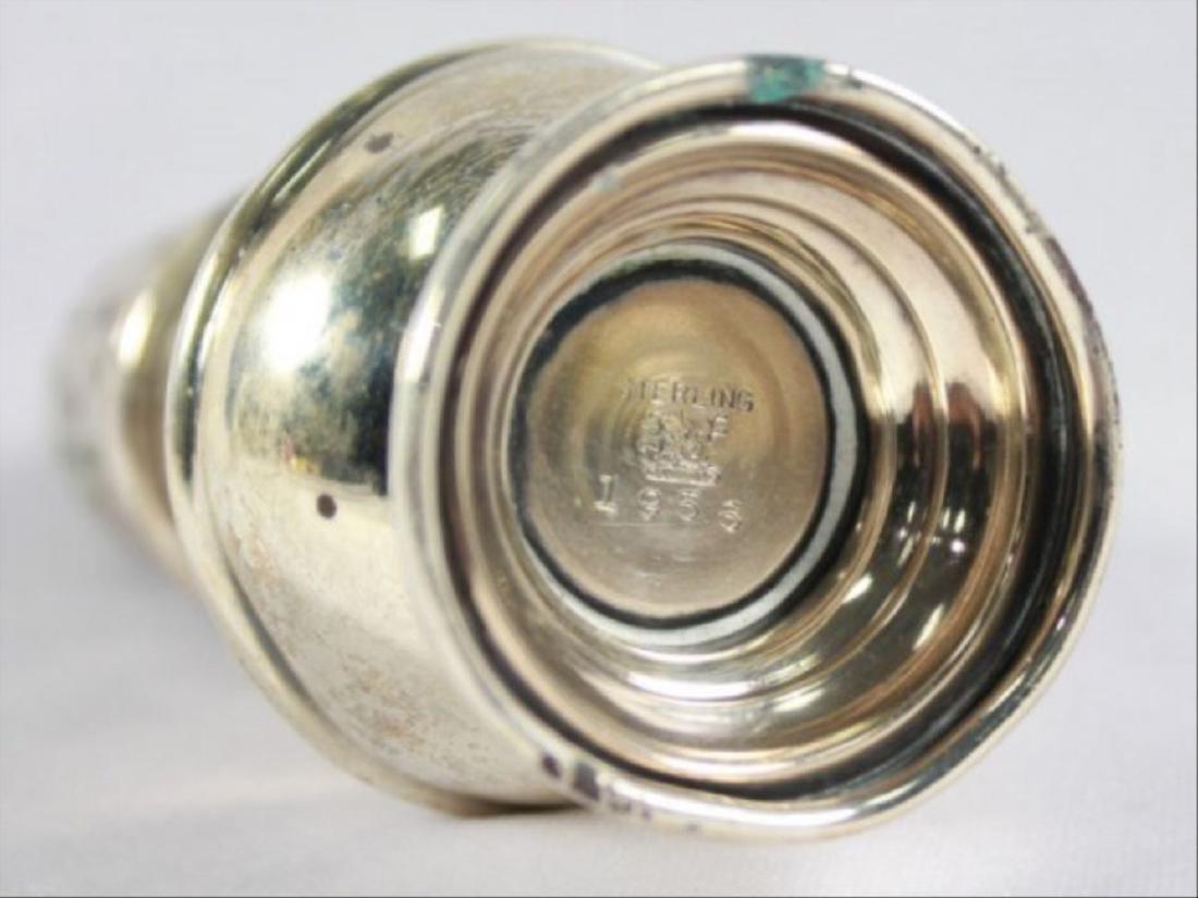 Pair Of Sterling Silver Salt Shakers - 3