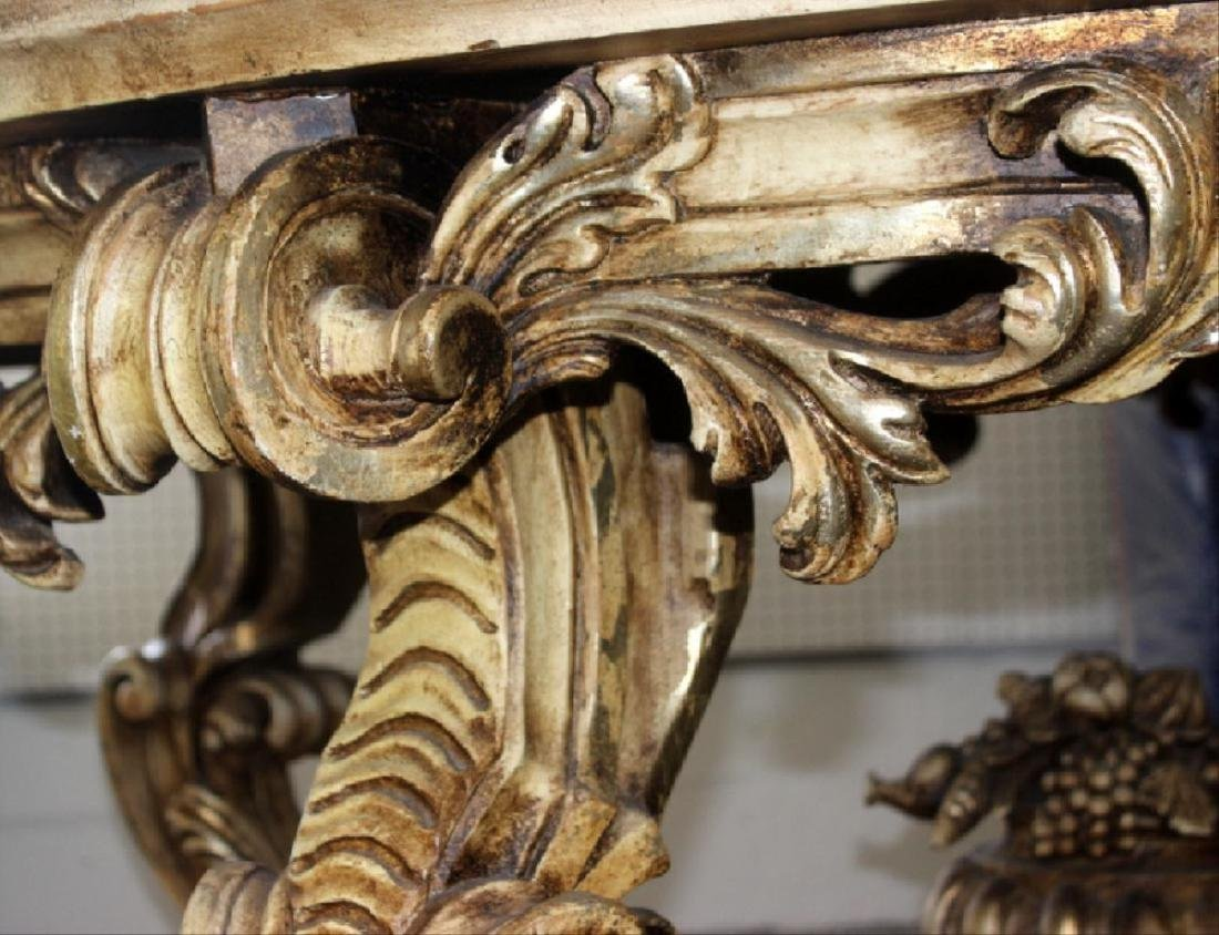 Italian Louis Xv Style Marble Inset Table - 4