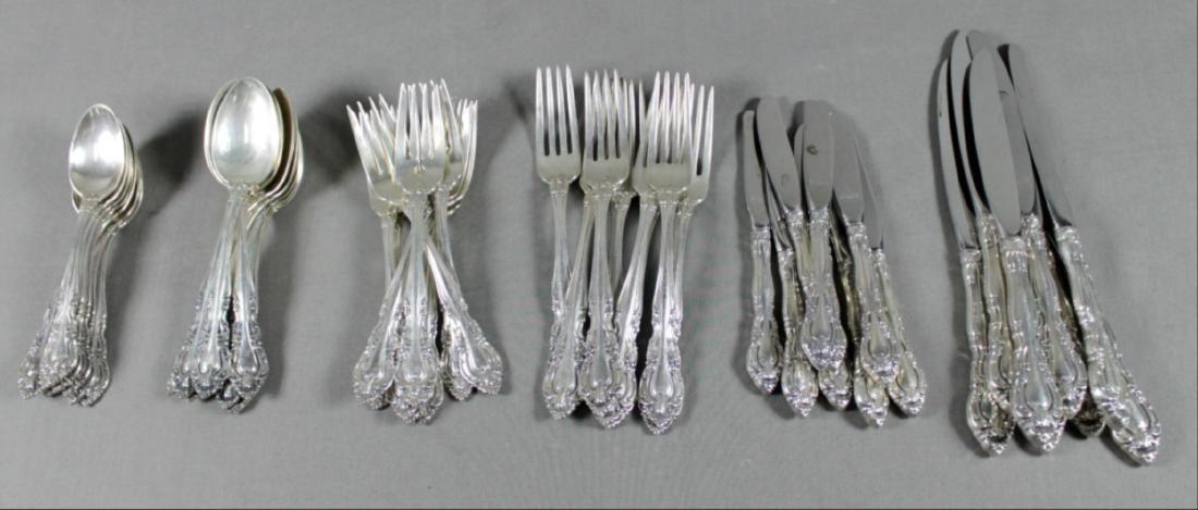 48 Pc. Alvin Sterling Silver Flatware Set