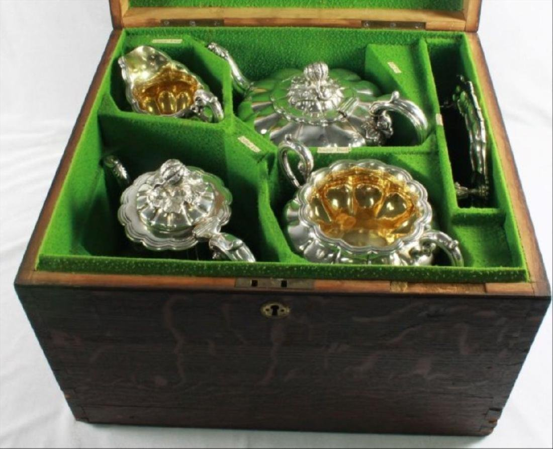 Victorian Sterling Silver Coffee And Tea Service, - 2