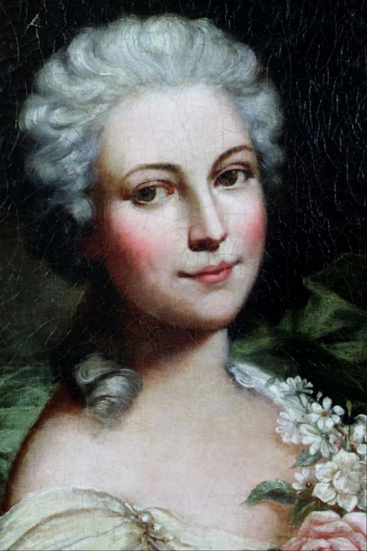 Framed Oil On CanvasOf Woman W/ Flowers - 4