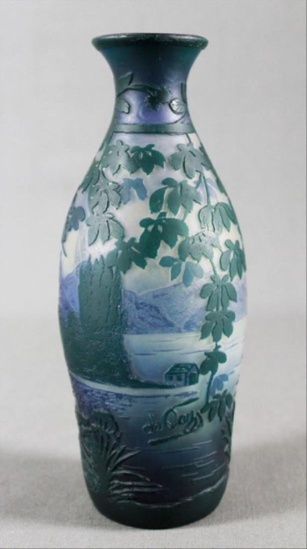 De Vez French Cameo Glass Vase