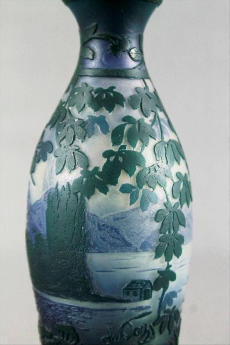 De Vez French Cameo Glass Vase - 2