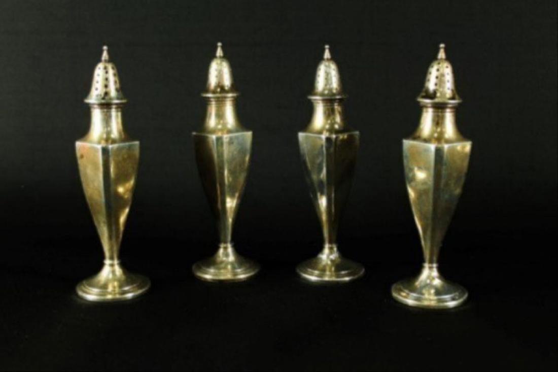 Set Of 4 Sterling Salt Shakers