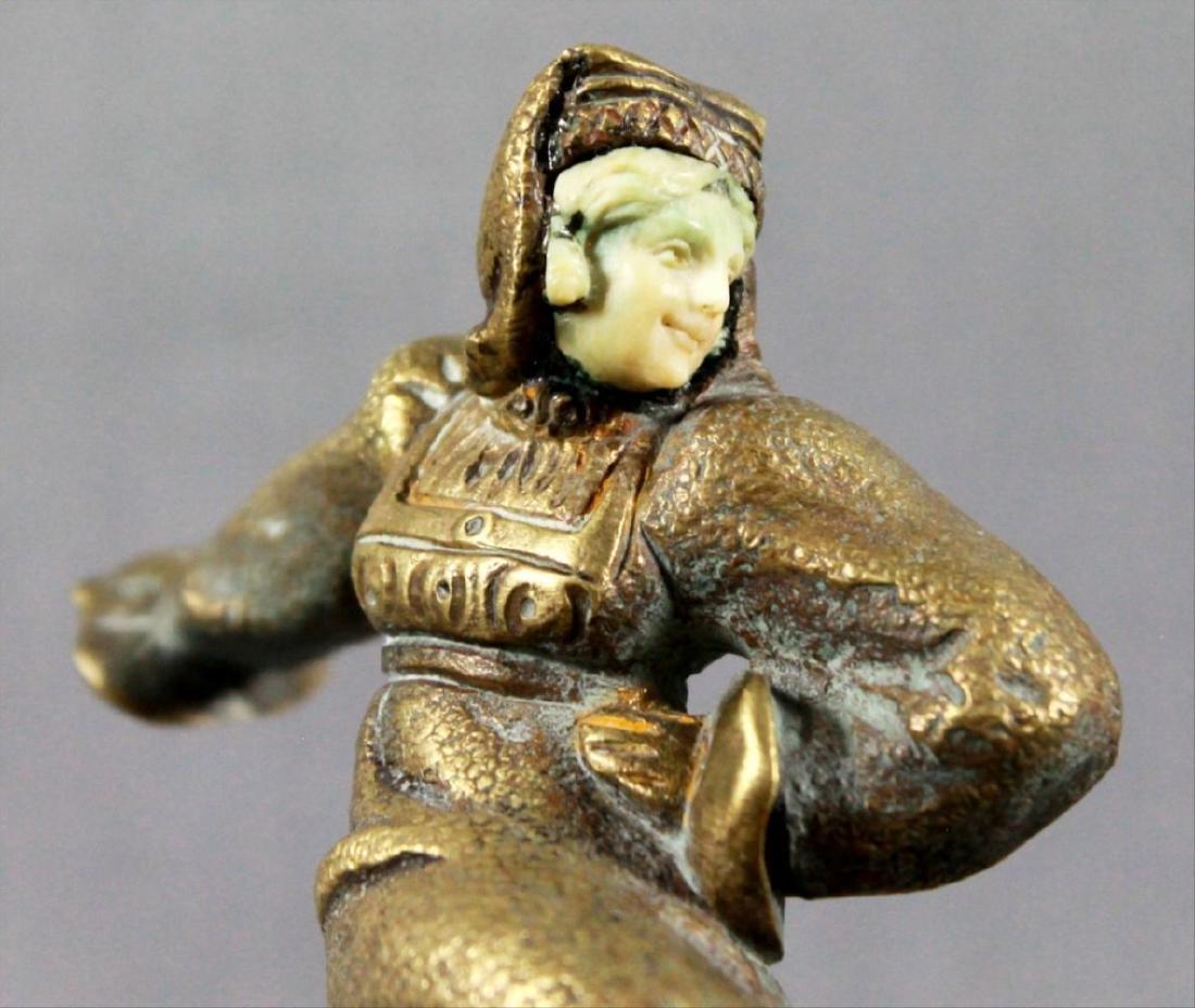 Bronze Figure Of Dancer On Marble Base Signed Morante - 3