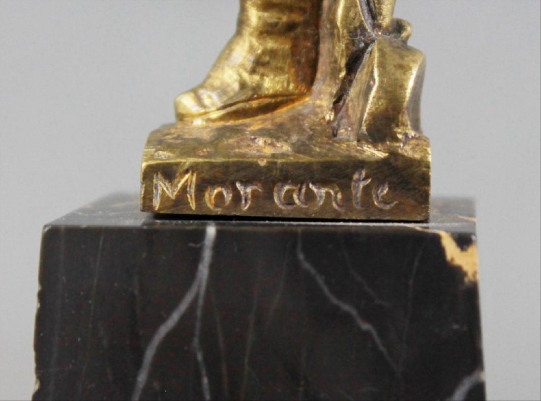Bronze Figure Of Dancer On Marble Base Signed Morante - 4