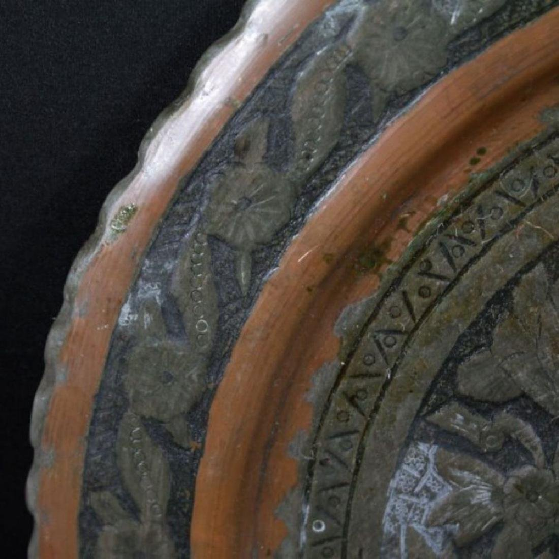Inlaid Floral Platter - 3