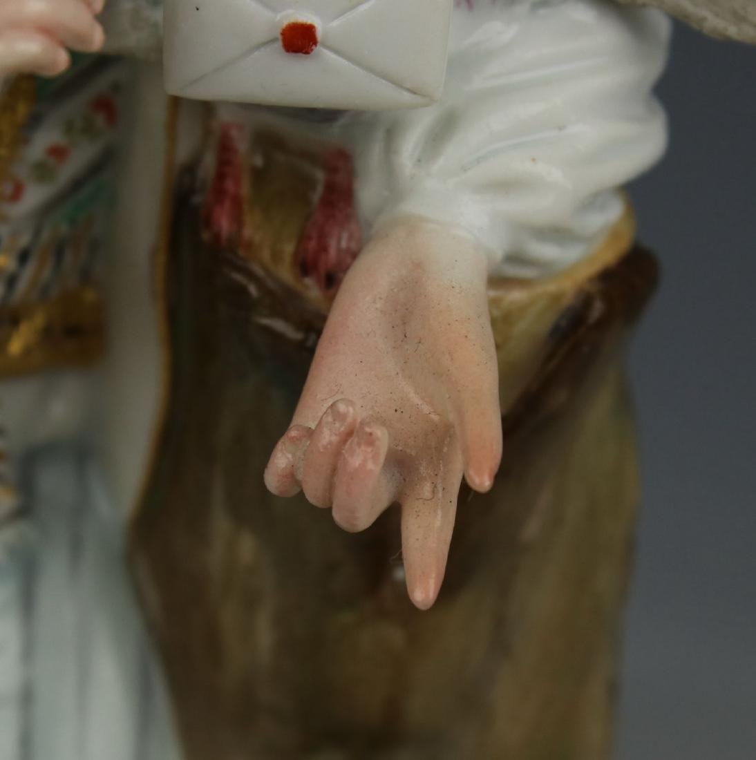 """Large 8"""" Meissen Acier Figurine F73 """"Man with Sheep and - 10"""