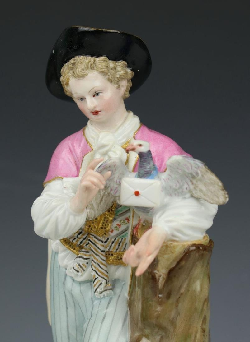 """Large 8"""" Meissen Acier Figurine F73 """"Man with Sheep and - 4"""