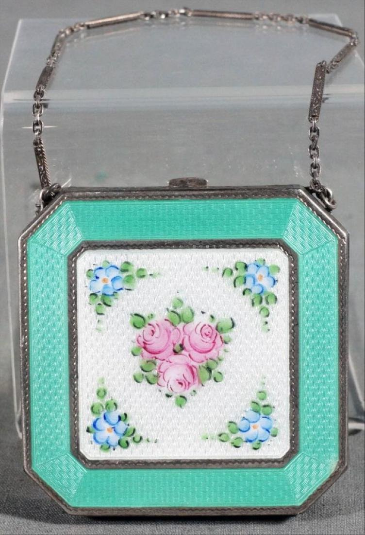 Enamel Compact With Chain