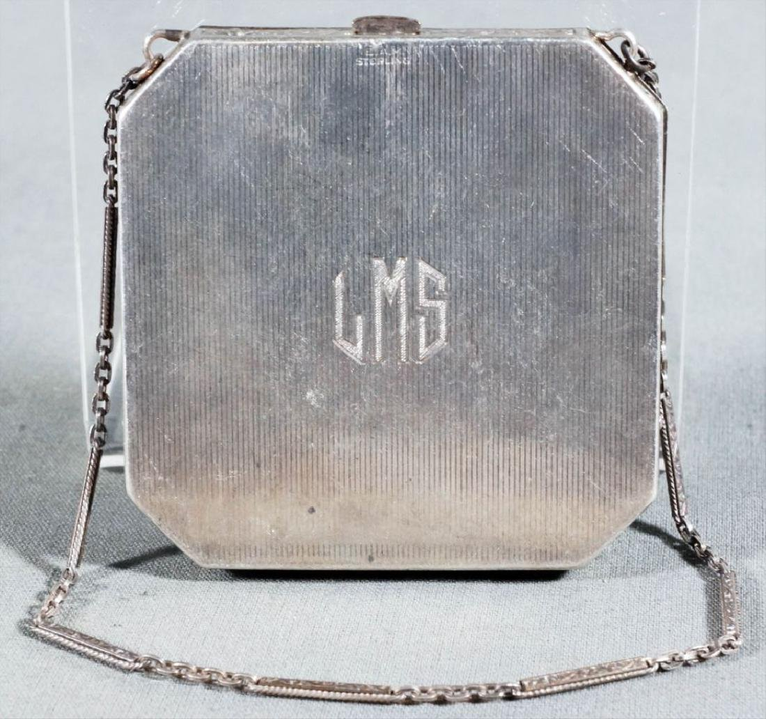 Enamel Compact With Chain - 2
