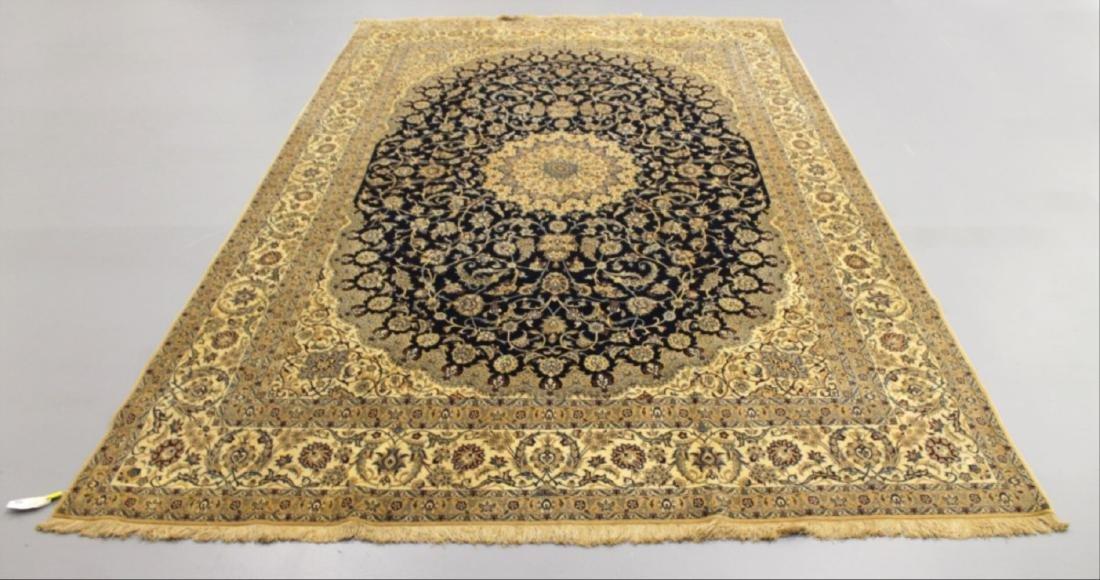 Nain Wool Silk Rug Iran