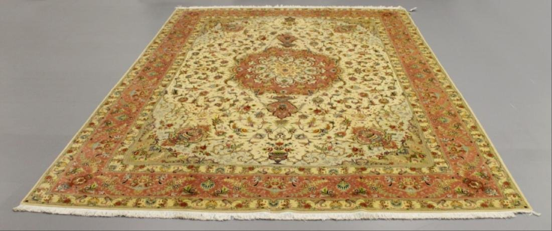 Tabriz Wool Silk Rug Iran