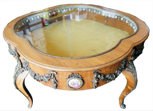 French Glass Top Curio Coffee Table Aug 28 2019 World