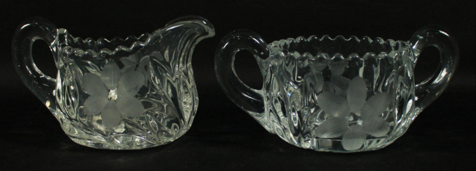Pair Of Baccarat Style Bowls