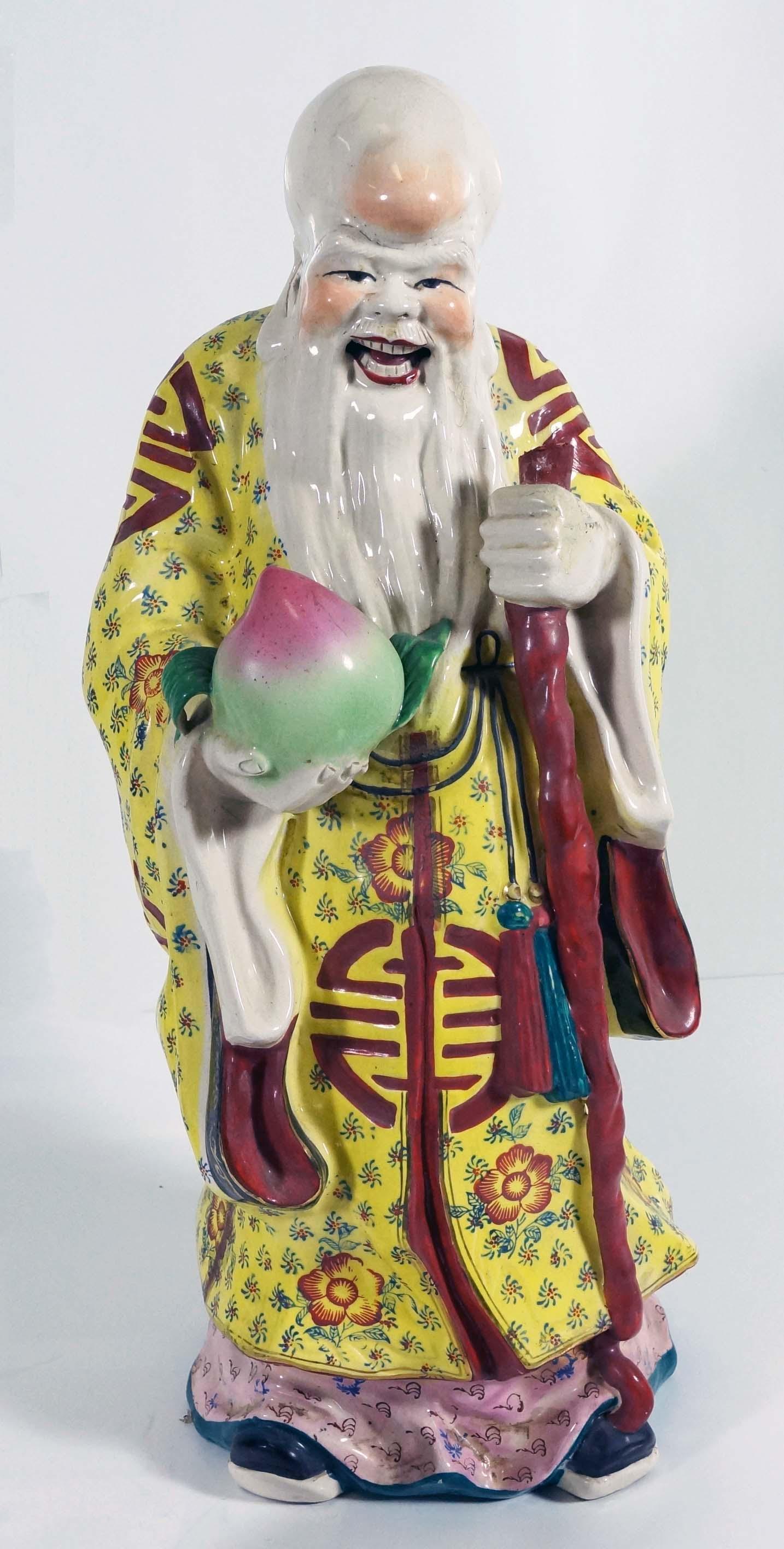 Chinese Porcelain Figure Of A Elder