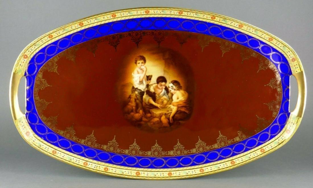 Fine Antique Art Deco Royal Vienna Porcelain Children