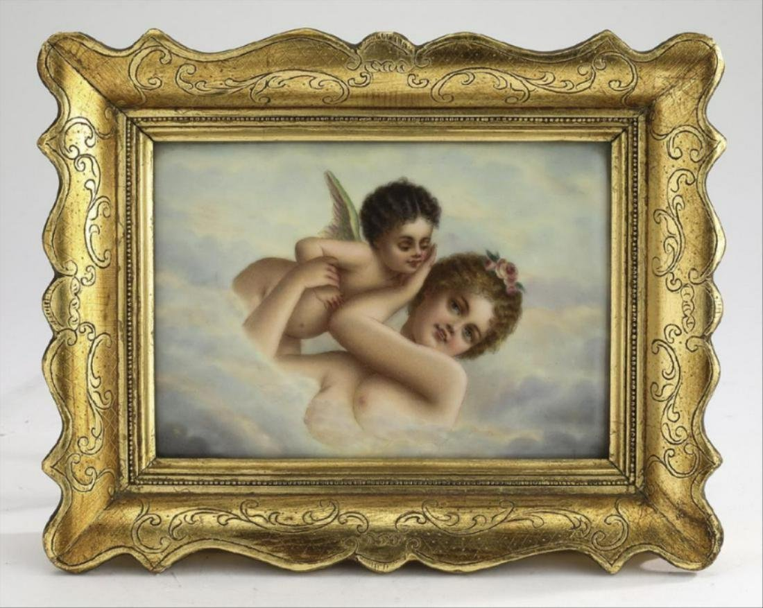 Early 20Th C Hand Painted Porcelain Plaque
